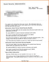 10 social security benefits letter