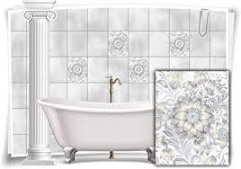 medianlux fliesen aufkleber fliesen bild kachel see grau weiß sticker bad wc deko küche digitaldruck folie 12 stück 20x25cm m13m84h 96437