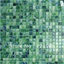 shop blue and green stained glass mosaic tile backsplash
