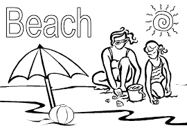 Perfect Beach Coloring Pictures 41 With Additional Print