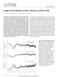Define Carbon Sink Geography by Long Term Decline Of The Amazon Carbon Sink Pdf Download Available