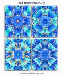 Royal Blue Bathroom Wall Decor by Aqua Blue Wall Art Indigo Blue Mandala Art Print Beach House Decor