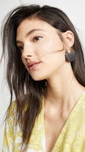100 The Madalion Sophie Monet Medallion Earrings In Black Lyst