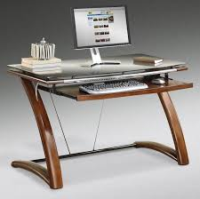 Glass And Metal Computer Desk With Drawers by Lovable Contemporary Computer Desk Awesome Interior Design Ideas