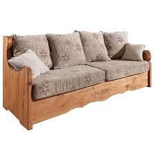 canap bois et tissu canape tissu 3 places aiguebelle alaska les meubles du chalet