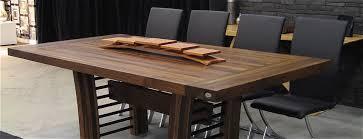 table de cuisine en bois massif table comptoir bloc de boucher et ilôt en bois massif