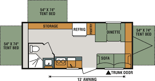 Travel Trailer Floor Plans With Bunk Beds by Our Rv Inventory