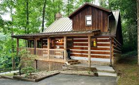 Cabins Near Ohiopyle Rear View Cabin And Deck Cabins Ohiopyle