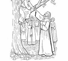 Zacchaeus Coloring Pages And Jesus Page Best 25 Ideas On