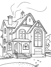Pretentious Design Ideas Coloring Page Of A House Printable Free PDF Download At Httpcoloringcafecom