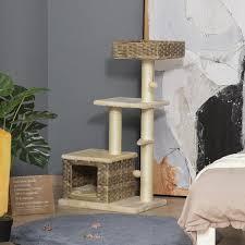 pawhut katzenbaum kratzbaum kätzchen möbel mit katzenhöhle
