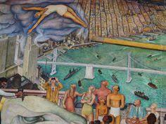diego rivera vista de la serie mural historia del estado de
