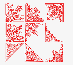 Red Paper Cut Border Frame PNG Image And Clipart