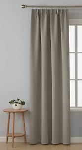 deconovo vorhang verdunkelung schlafzimmer gardinen blickdicht kräuselband stoff taupe 175x140