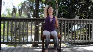 Youtube Chair Yoga Sequence by Five Minute Chair Yoga Sequence With Cara Edwards Youtube