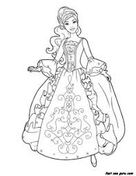 Printable Barbie Princess Dress Book Coloring Pages For Kids