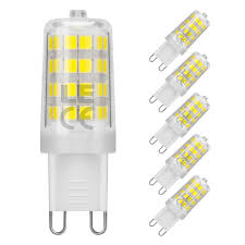 pack of 5 units g9 led light bulb daylight white 5000k le