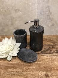 badset marmor geschwungen schwarz