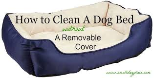 how to clean a dog bed that has no removable cover