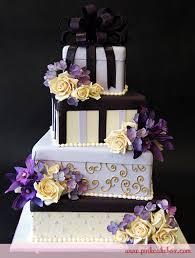 Purple Gift Box Wedding Cake