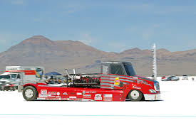 This V16-Powered Semi Truck Is The Fastest Big Thing At Bonneville ... Worlds Faest Electric Truck Nissan Titan Wins 2017 Pickup Truck Of The Year Ptoty17 The 2400 Hp Volvo Iron Knight Is Faest Big Muscle Trucks Here Are 7 Pickups Alltime Driving Watch Trailer For Car Netflixs Supercar Show To Take Diesels On Planet Nhrda World Finals Day 2 This V16powered Semi Is Thing At Bonneville Of Trucks In