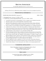 Resume Objective For Social Worker Of Seeking A Cilent Services Administrator Position With Professional Experience In Charitable Organization As