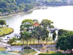 100 Birdview File Of Nine Curves Bridge And Pavilion In Bihu Park