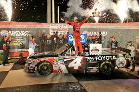 Bell Overcomes Spin To Win NASCAR Truck Race At Kentucky | WSET Spencer Gallagher Ordained Minister Chapel Of The Flowers Nascar Truck Series At Eldora Results Matt Crafton Wins Dirt 2016 Points Final Racing News Round Track Slower Ticket Sales For Race No Surprise Sets Stage Lengths Every 2017 Cup Xfinity Todd Gliland To Drive No 4 Toyota With Kbm For 19 Races Sledgehammer Thrown Kevin Harvick After Wreck Trucks Abreu Returns To Truck Series Motor Sports Qualifying Complete Blaney Takes Pole Johnny Sauter Earns His Second Victory Daytona Bell Overcomes Spin Win Kentucky Wset