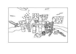 Coloring Page Minecraft Video Games 34