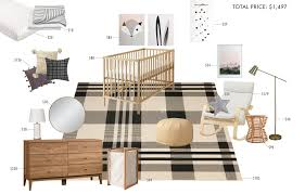 100 Rocking Chair With Pouf Budget Rooms Gender Neutral Nursery Emily Henderson