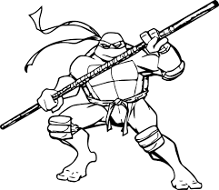 Ninja Turtle Coloring Page Pages Turtles Remarkable Brmcdigitaldownloads Picture