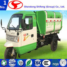 China Closed Cargo Box Garbage Truck/Rubbish Collector Diesel Engine ...