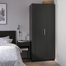brimnes kleiderschrank 2 türig schwarz 78x190 cm