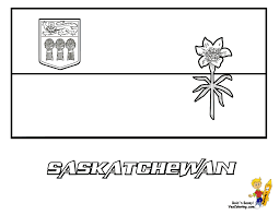 Coloring Sheet Flag Saskatchewan At YesColoring