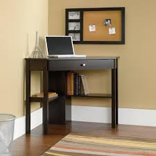 corner computer desk with drawer in black free shipping today