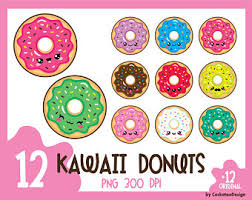 Kawaii Donuts Cute Digital Clipart