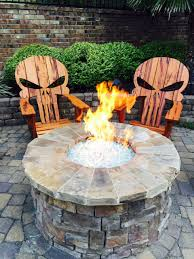 custom made punisher skull adirondack chair builds pinterest