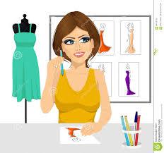 Fashion Designer Thinking Concept
