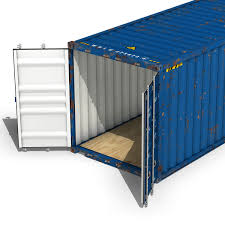 100 40ft Shipping Containers Container Wan Hai 3D Model