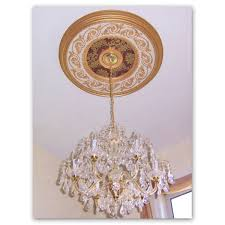 2 Piece Ceiling Medallion Canada by Hand Painted Architectural Products Custom Decorative Finishes