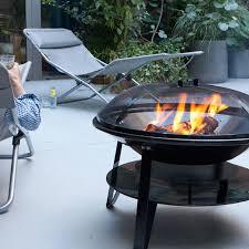 fabriquer cheminee allumage barbecue barbecue charbon de bois brasero 70 cm castorama garden deco