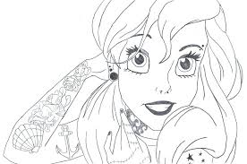 Emo Anime Girl Coloring Pages For Kids On Drawings Of Punk Printable Flowers High Resolution Elmo Sheets