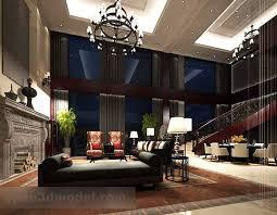 villa wohnzimmer esszimmer interieur 3d modell max vray