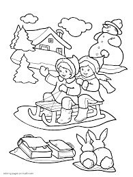 Winter Coloring Pages For Kids Printable