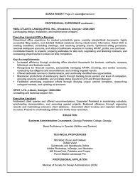 Admin Executive Resume Template Examples Dadaji Printable