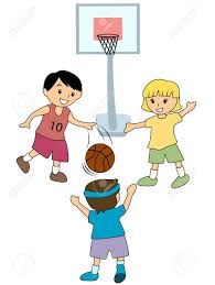 Boy Playing Basket Ball With