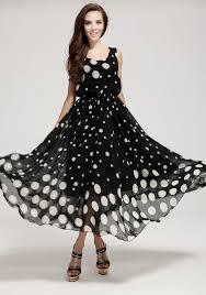 black polka dot round neck chiffon maxi dress chiffon maxi maxi