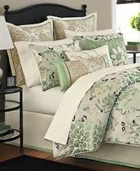 Ty Pennington Bedding by Martha Stewart Jade Flowers 9 Piece Comforter Set King Green