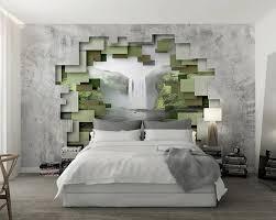 3d stereoskopischen vliesstoffe muster zement wand wasserfall schlafzimmer wohnzimmer tapete