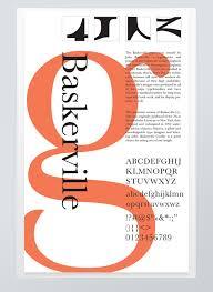 Baskerville Typographic Poster On Behance DesignTypographic PosterPoster FontsType